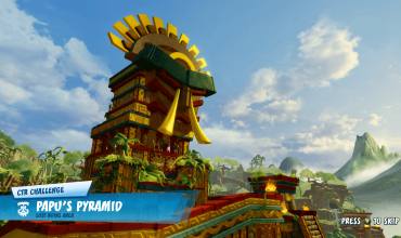 Papu's Pyramid CTR challenge locations in Crash Team Racing